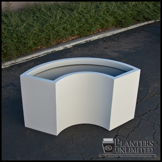 Modular 1/3 Circle Fiberglass Commercial Planter 44in.Rad. x 18in.W x 30in.H