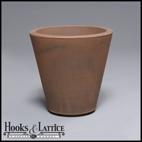 Mondrian 14in. Tapered Planter - Rust