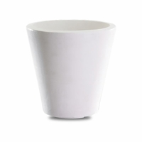 Mondrian 14in. Tapered Planter - Alpine White