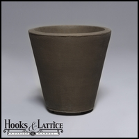 Mondrian 14in. Tapered Planter - Antique Bronze