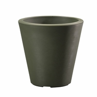 Mondrian 14in. Tapered Planter - Olive