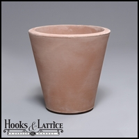 Mondrian 14in. Tapered Planter - Weathered Terra Cotta