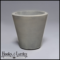 Mondrian 16in. Tapered Planter - Weathered Greystone
