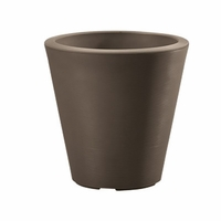 Mondrian 26in. Tapered Planter - Bark
