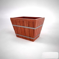 Muir Tapered Redwood Commercial Planter 60in.L x 18in.W x 18in.H