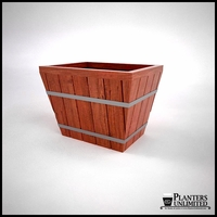 Muir Tapered Redwood Commercial Planter 24in.L x 24in.W x 18in.H