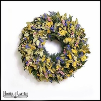 Myrtle Wreath with Dried Flowers -18 Inch