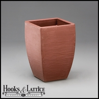 "Natoma 14"" Square Tapered Planters - Blackberry"