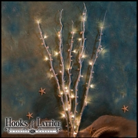 Natural Twig Lighted  Accent Branch with shells