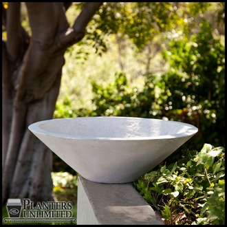 Nepal Weathered Stone Low Bowl Planters