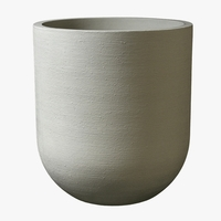 Neptune Round Cast Stone Planter 19in.D x 28in.H