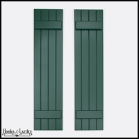 12in. Wide - Never-Fail Board and Batten Composite Exterior Shutters (Pair)