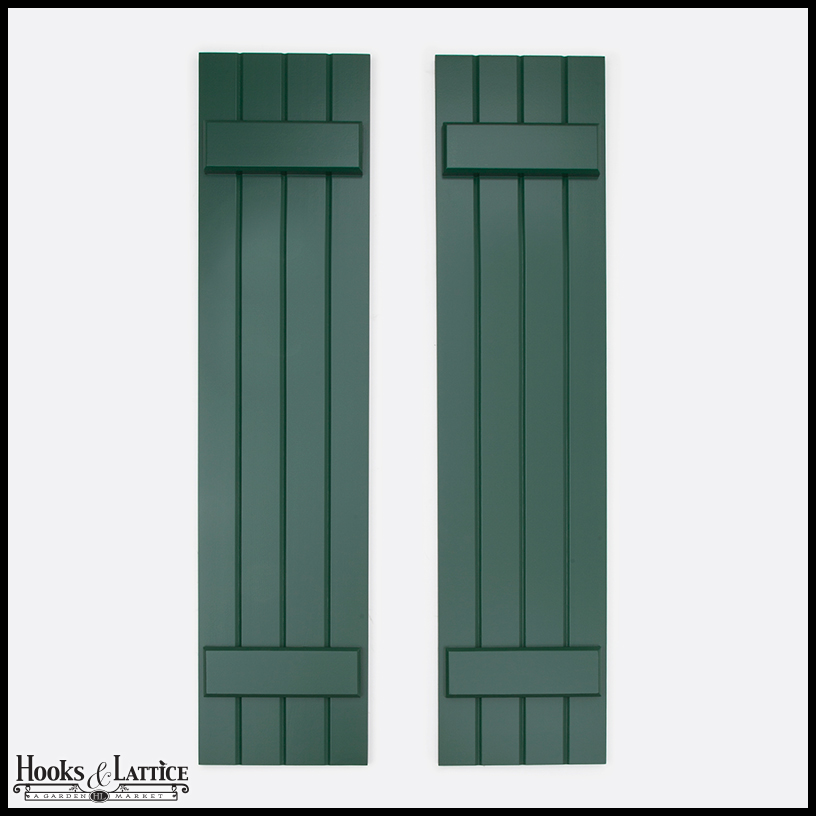 Wide   Never Fail Board And Batten Composite Exterior Shutters (Pair)