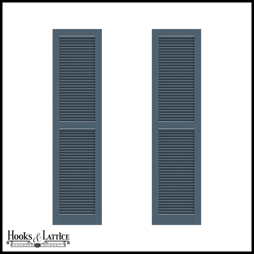 15in Wide Never Fail Fixed Louvered Pvc Composite