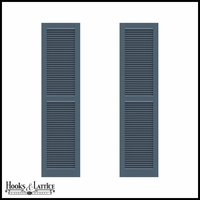 12in. Wide - Never-Fail Fixed Louvered PVC Composite Exterior Shutters (Pair)