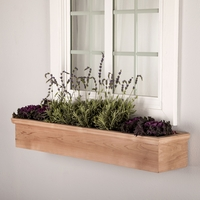 Newport Cedar Window Box with Optional Liner