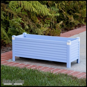 Niguel 24in. Rectangular Planter in Periwinkle