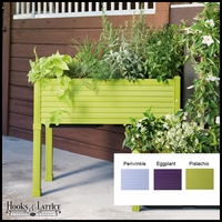 Niguel 34in. Raised Planter in Eggplant
