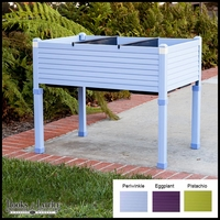Niguel 36in. Raised Planter in Eggplant