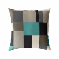 Noir Block Decorative Outdoor rated Throw Pillow