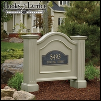 Northwood Double Post and Panel Address Sign - Clay