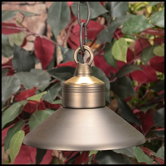 Observer Low Voltage Hanging Light W/ Chain - Weathered Brass
