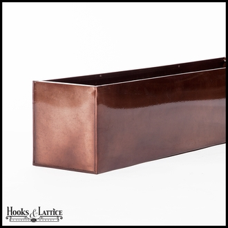 42in. Metal Window Box Liner, Oil-Rubbed Bronze Finish