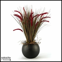 Onion Grass in Resin Ball Planter, 36 in.