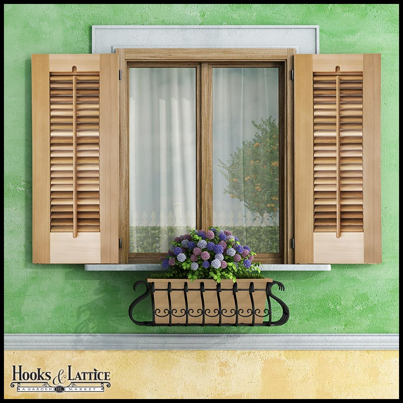 Operable Louvered Shutters Click To Enlarge