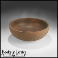 Orchard Hill 22in. Bowl Planter - Rust