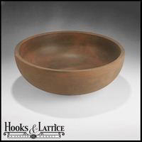 Orchard Hill 30in. Bowl Planter - Rust