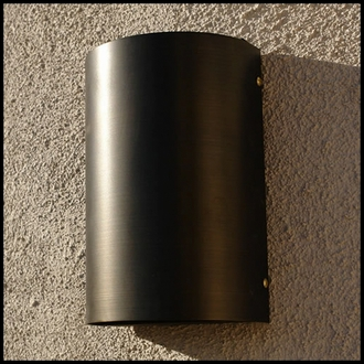 Orion 9 Low Voltage Wall Light - Weathered Brass