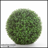 19in. Ornamental Boxwood Topiary Ball - Outdoor