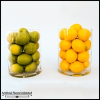 Ornamental Citrus Fruit in Glass Vase