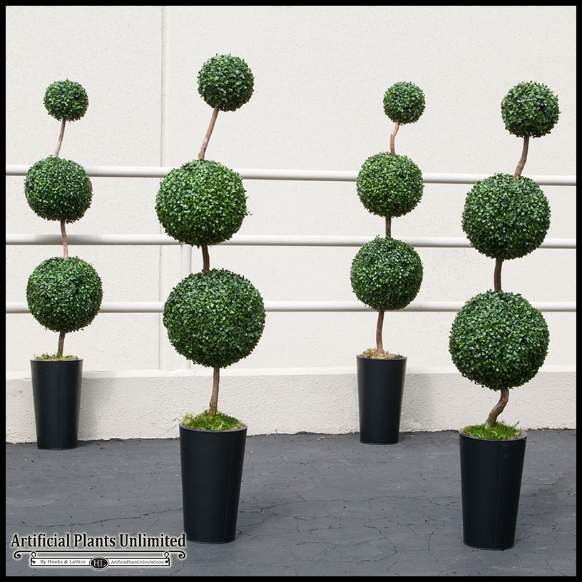 Outdoor Topiary Trees With Lights Round topiary trees outdoor artificial ball topiaries sphere topiary outdoor artificial ball topiaries click to enlarge workwithnaturefo
