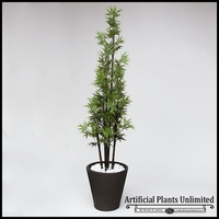 Outdoor Artificial Bamboo Cluster in Planter, 3 Canes