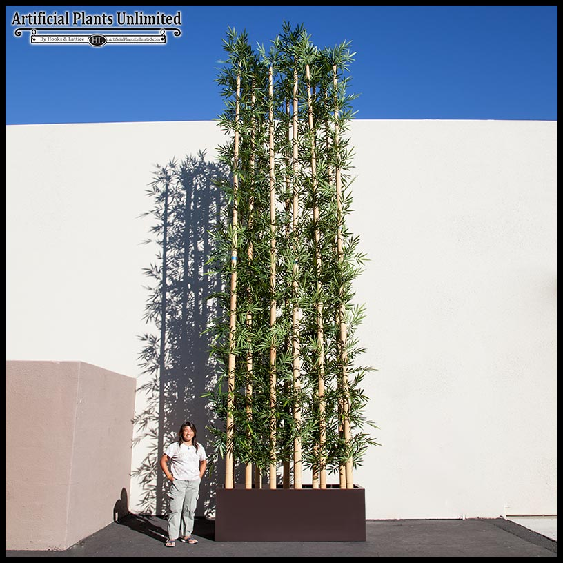 Outdoor Artificial Bamboo In Modern Planters Click To Enlarge