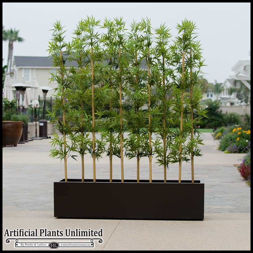 Outdoor Artificial Bamboo In Modern Planters Planters