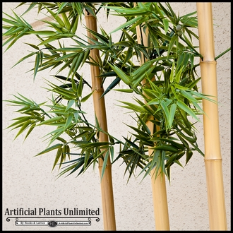 Indoor Artificial Bamboo Cluster in Planter, 9 Canes