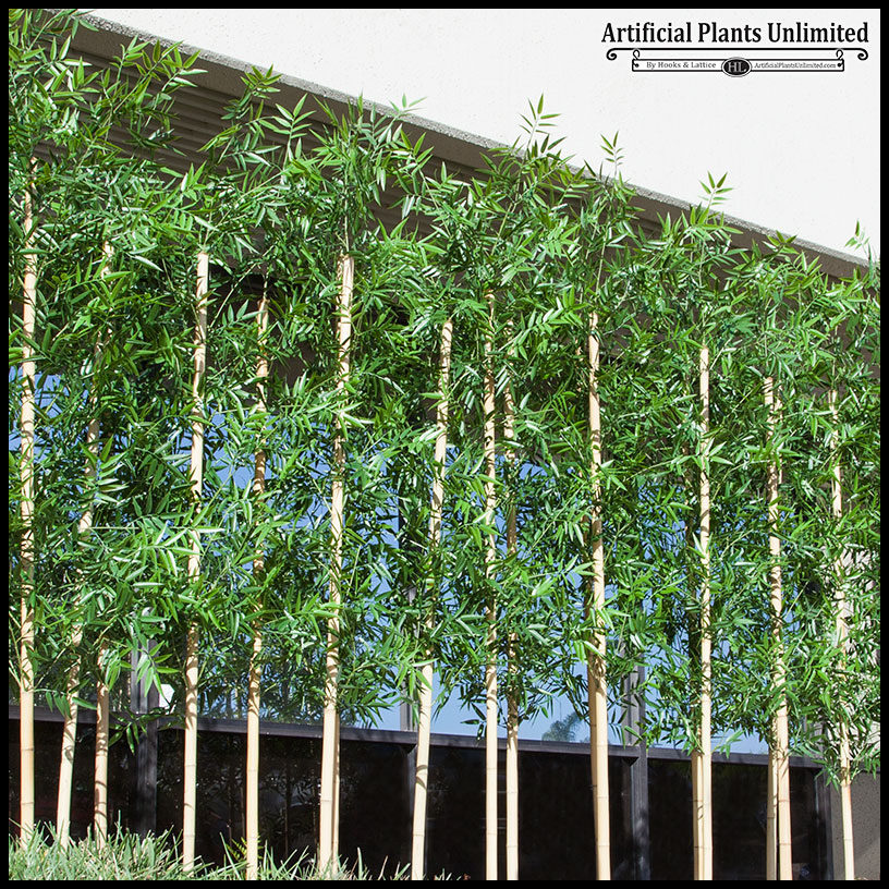 Outdoor bamboo per foot artificial plants unlimited for Plante verte decorative
