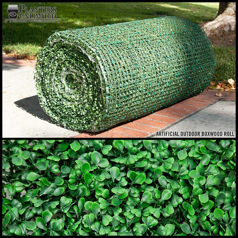 artificial boxwood material roll outdoor | artificial plants unlimited