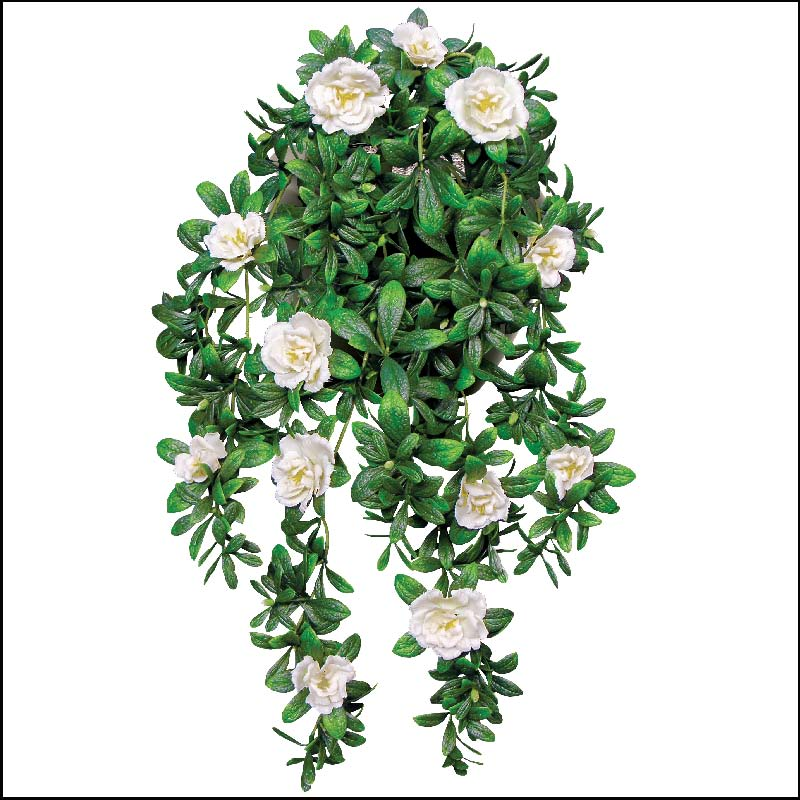 outdoor artificial flowers, fake azaleas vines | hooks and lattice