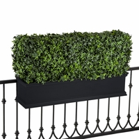 30in. Outdoor Artificial Ivy Hedge in Black Window Box