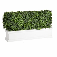 Outdoor Artificial Ivy Hedges in White Window Boxes