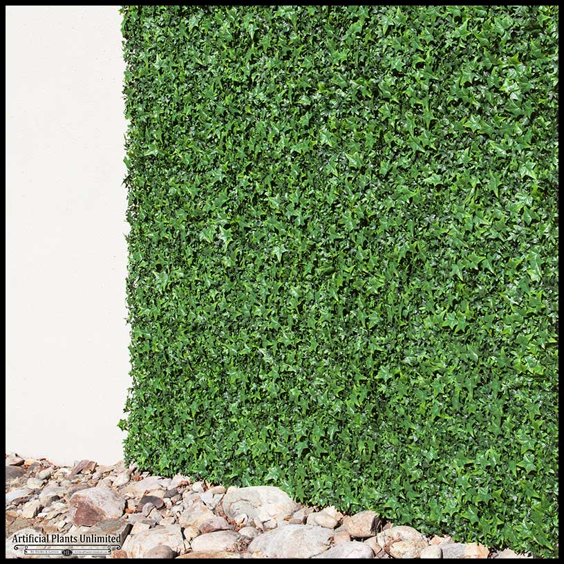 exterior fake ivy wall covering, green | artificial plants unlimited