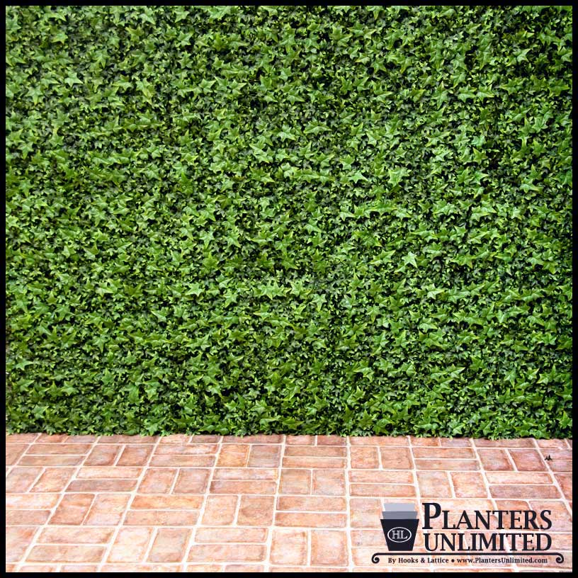 Exterior fake ivy wall covering green artificial plants for Living outdoor wall