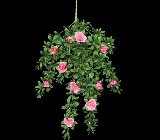 34in. Hanging Pink Azalea Vine, Outdoor Artificial