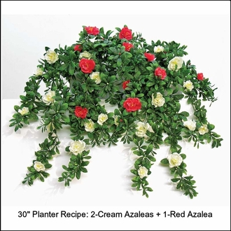 34in. Hanging Red Azalea Vine, Outdoor Artificial
