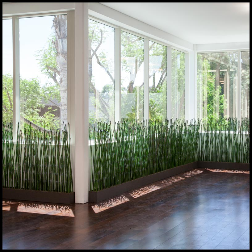 Outdoor artificial bamboo artificial outdoor reeds for Tall ornamental grasses for screening