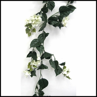 9.5' Bougainvillea Vine Garland - Cream , Outdoor Rated